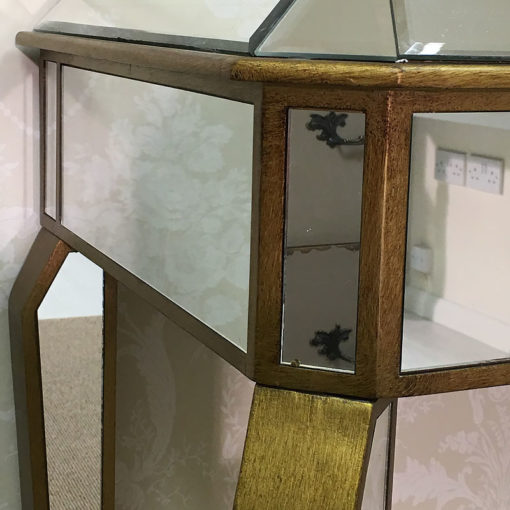 Venetian Gold Single Drawer Mirrored Dressing Table