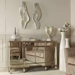 Beaumont Gold Venetian Mirrored 3 Drawer 4 Door Sideboard