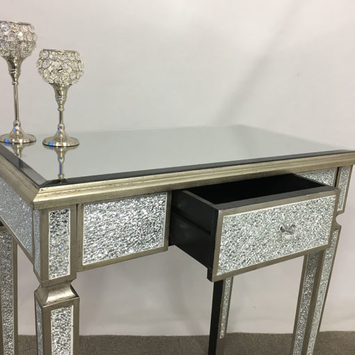 Crackle Glass 1 Drawer Console Table