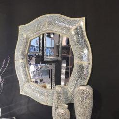 Crackle Glass 4 Point Wall Mirror