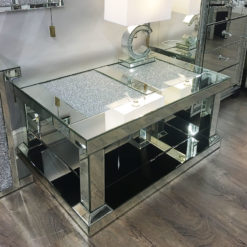 Diamond Glitz Mirrored Large Coffee Table