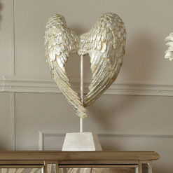 Antique Mother Of Pearl Angel Wings Sculpture
