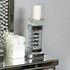 Floating Crystal Pillar Candle Holder