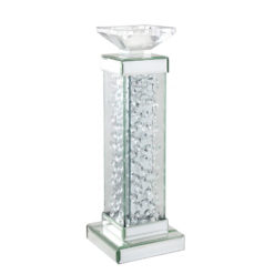 Floating Crystal Pillar Candle Holder - Large