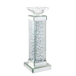 Floating Crystal Pillar Candle Holder - Large