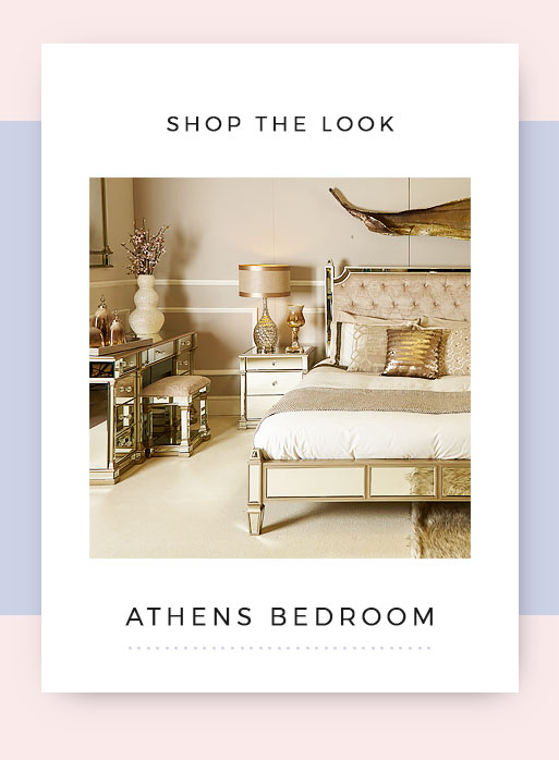 Shop the look Athens Mirrored Gold Bedroom Furniture