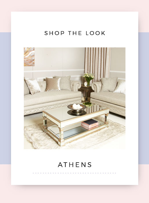 Shop the look Athens Mirrored Living Room Furniture