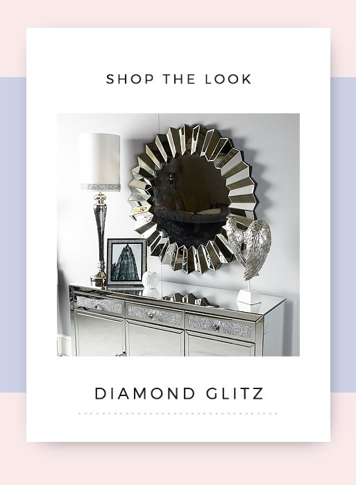Shop the look Diamond Glitz Mirrored Hallway Furniture