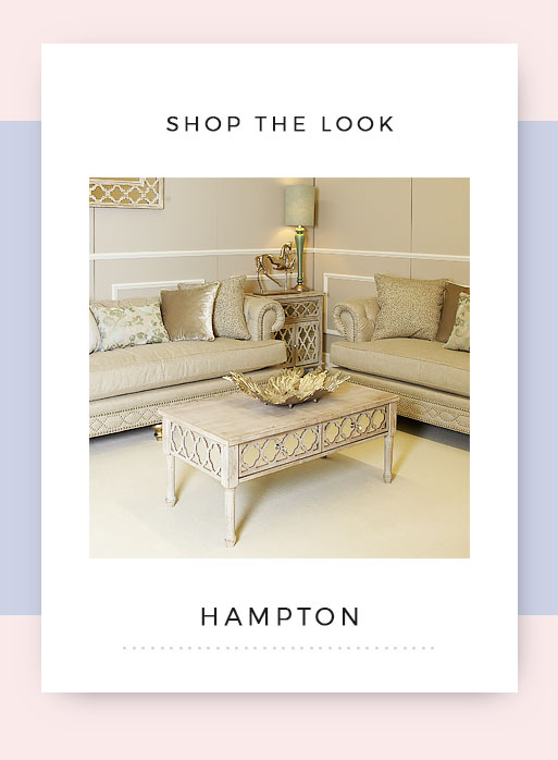 Shop the look Hampton Mirrored Living Room Furniture