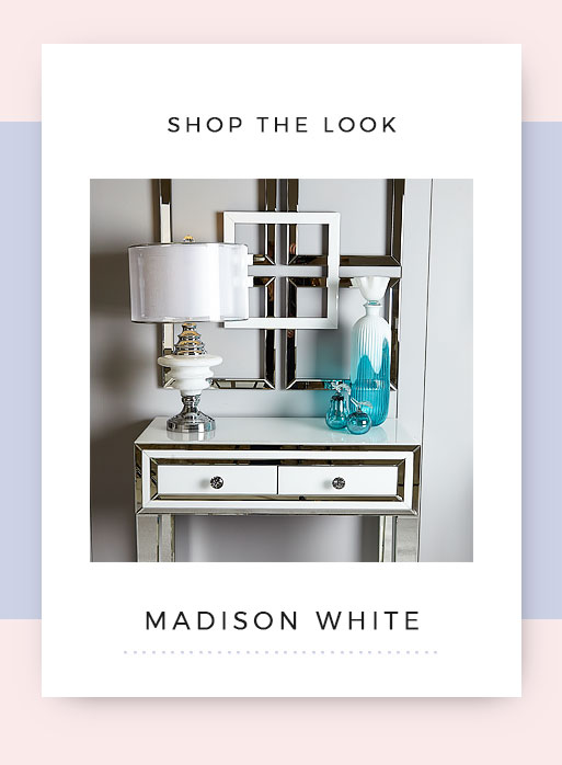 Shop the look Madison White Mirrored Dressing Table