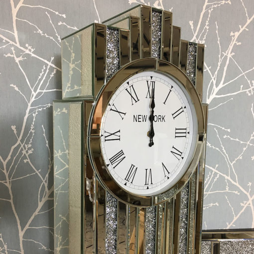 Art Deco Mirrored Grandfather Clock