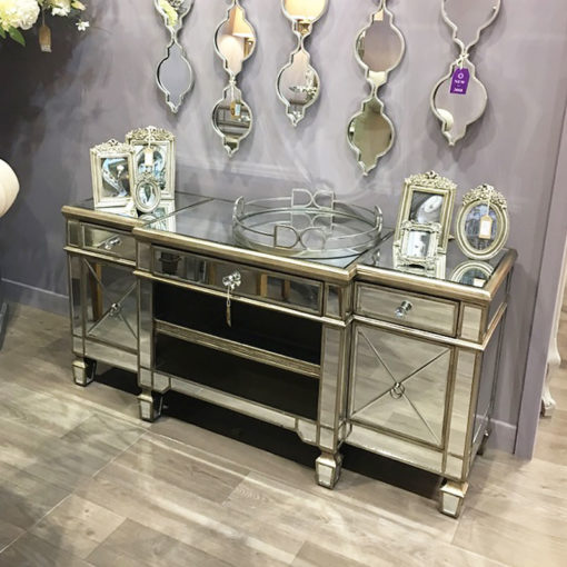 Belfry Antique Silver Mirrored TV Cabinet