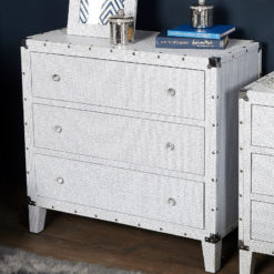Blitz Large 3 Drawer Glitzy Sparkle Crystal Chest Cabinet