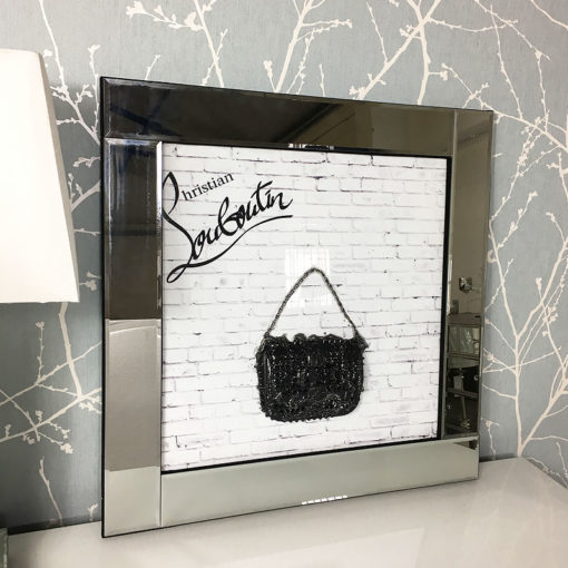 Christian Louboutin Handbag Mirrored Picture Frame Wall Art