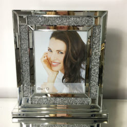 "Diamond Glitz Silver Box Photo Frame (8x10"")"