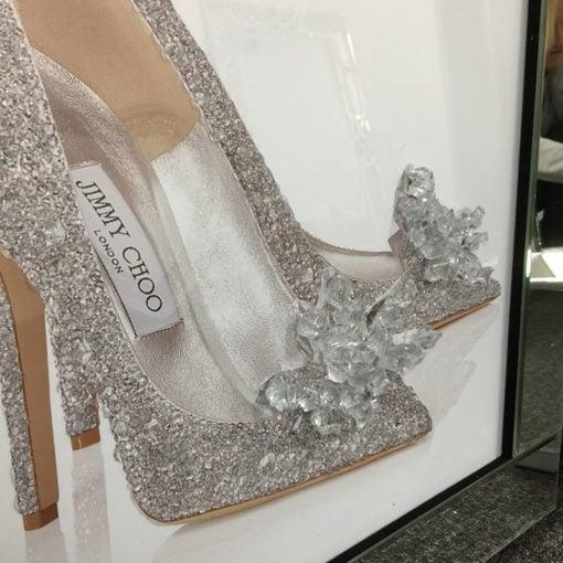 Jimmy Choo Cinderella Shoe Mirrored Picture Frame Wall Art