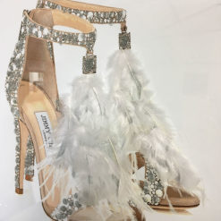 Jimmy Choo Feather Shoes Mirrored Picture Frame Wall Art