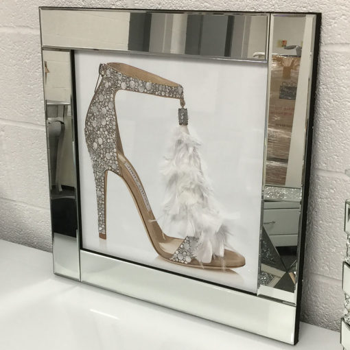 Jimmy Choo Single Mirrored Picture Frame Wall Art