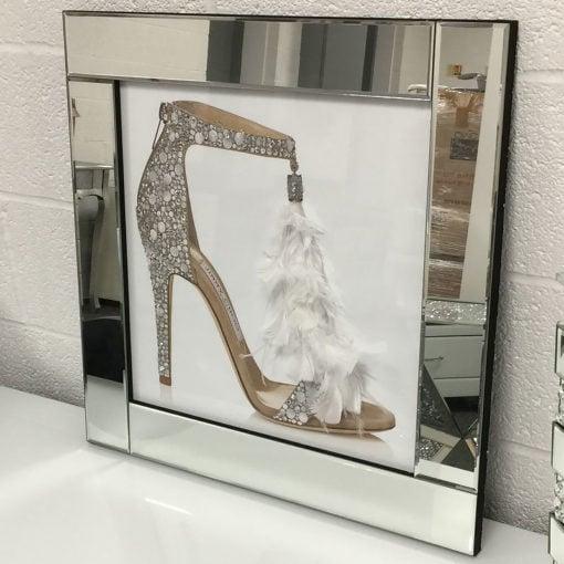 Jimmy Choo Single Mirrored Picture Frame Wall Art