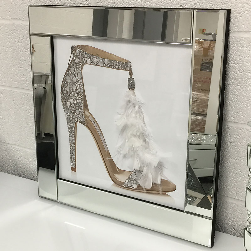 Mirrored wall picture frames