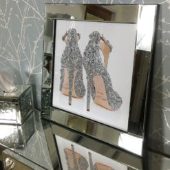 Jimmy Choo Stiletto Mirrored Picture Frame Wall Art