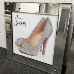 Louboutin Heeled Shoes Mirrored Picture Wall Art