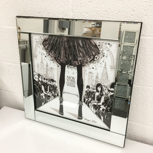 New York Fashion Week Mirrored Picture Frame Wall Art