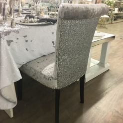 Sparkly Silver Glitter Back Chair