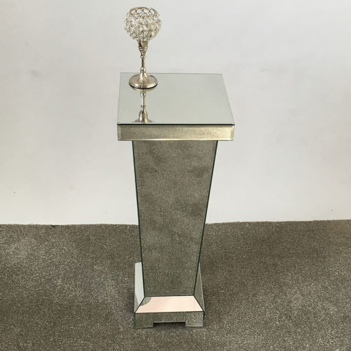 Classic Mirror Large Mirrored Display Pedestal