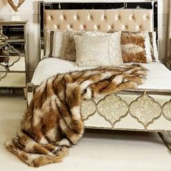 Brown Sable Faux Fur Throw 145cm x 200cm