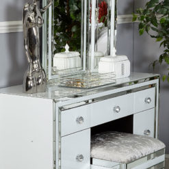 Clear Framed Medium Mirrored Silver Jewellery Candle Tray