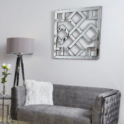 Diamond Geometric Mirror Wall Art