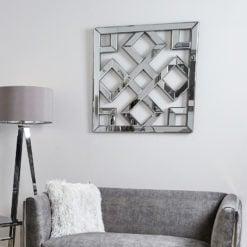 Diamond Geometric Mirror Wall Art