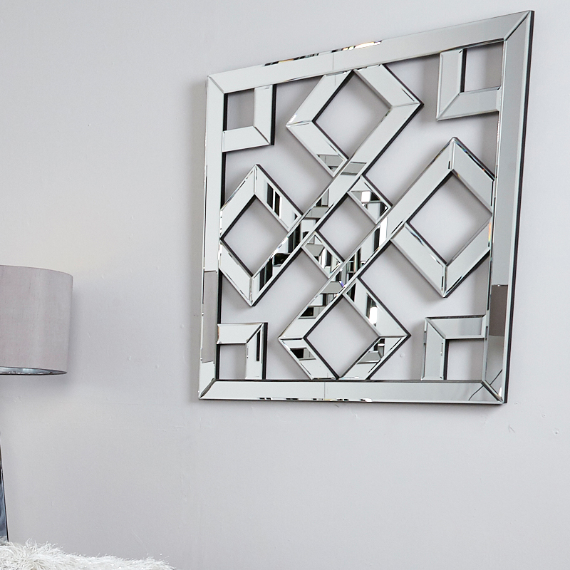 Diamond Geometric Mirror Wall Art Picture Perfect Home
