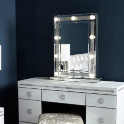 Diamond Glitz Dressing Table Mirror With 9 Dimmable LED Light Bulbs