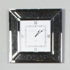 Diamond Glitz Noir Smoked Mirrored Wall Clock