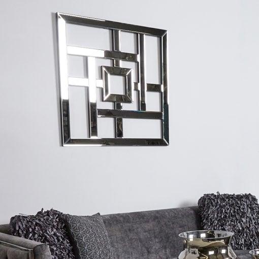 Geometric Mirror Wall Art