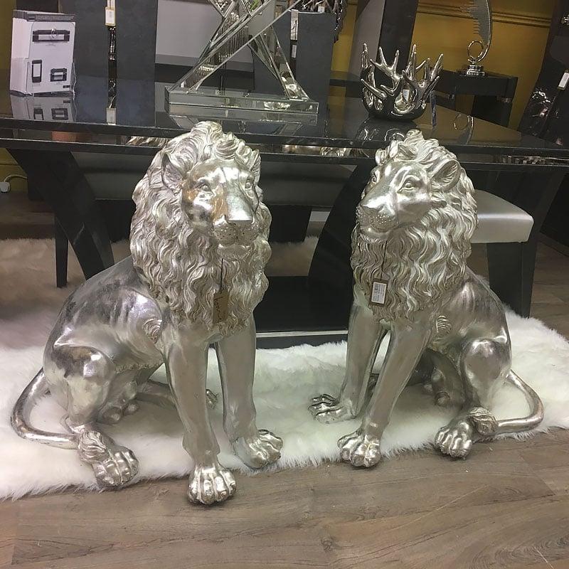 Left Facing Large Lion Decoration Ornament Home Decor