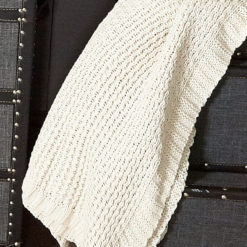 Natural Knit Throw Blanket 130x170