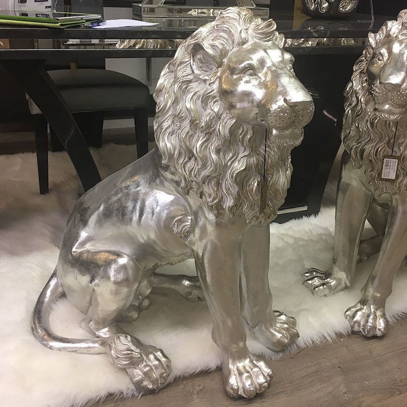 Right Facing Large Lion Decoration Ornament Home Decor