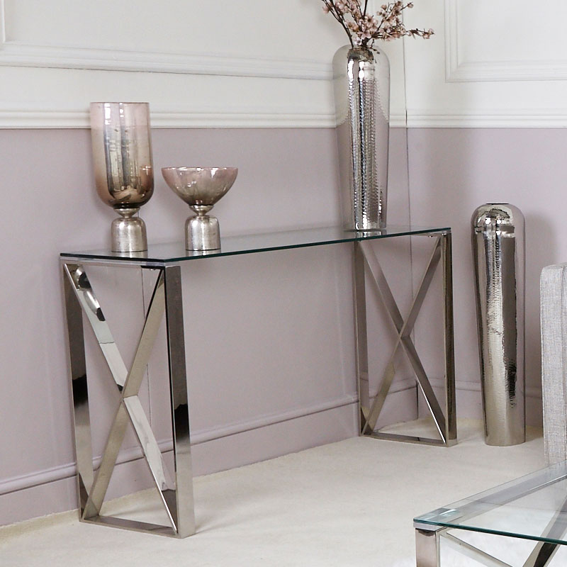 Zenn Contemporary Stainless Steel Clear