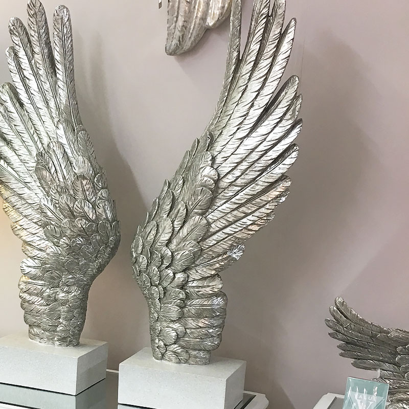Antique Silver Large Right Angel Wing Decor Picture