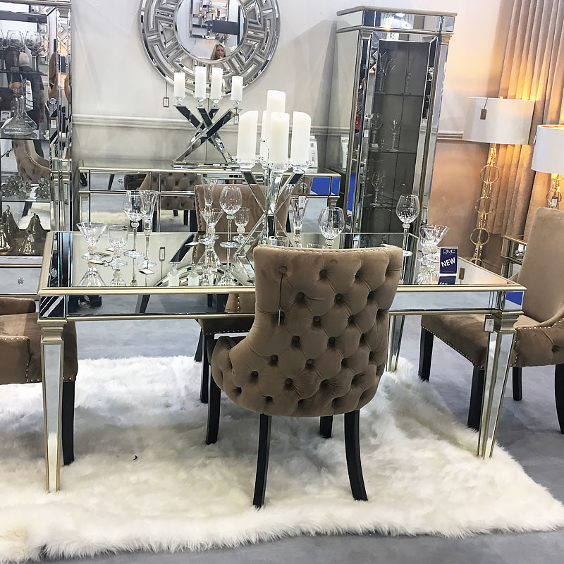 Athens Gold Mirrored Dining Table Picture Perfect Home