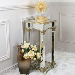 Athens Gold Mirrored Telephone Table Side Table End Table 90cm