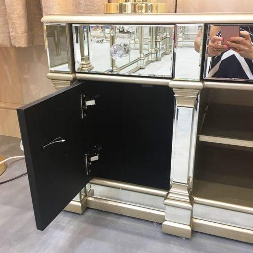 Athens Medium Gold Mirrored TV Entertainment Stand