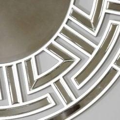 Athens Silver Aztec Circular Wall Mirror