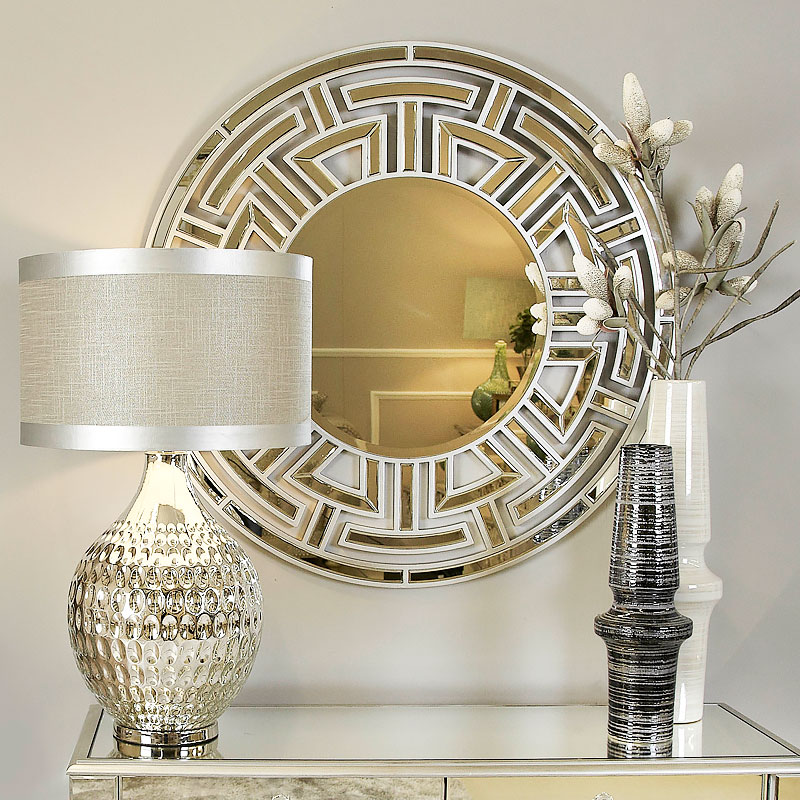 Athens Gold Aztec Circular Wall Mirror Picture Perfect Home