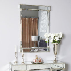 Athens Silver Rectangular Wall Mirror