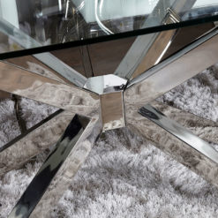 Aurelia Chrome And Glass Rectangular Dining Table 160cm