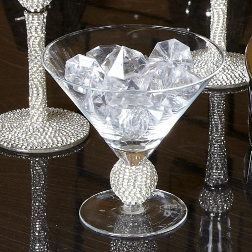Diamond Glitz Ice Cream Glass With Chunky Base Adorned In Diamonds